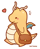 Chibi Dragonite by SeviYummy