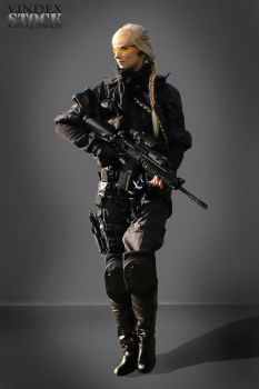 Female Universal Soldier STOCK II by PhelanDavion