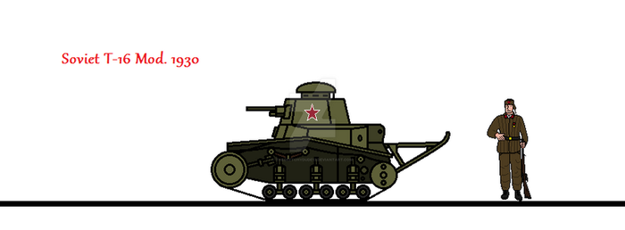Soviet T-16 Mod. 1930 by thesketchydude13