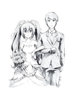 Commission: Newlyweds (Noire x Male OC) by USAthroughout