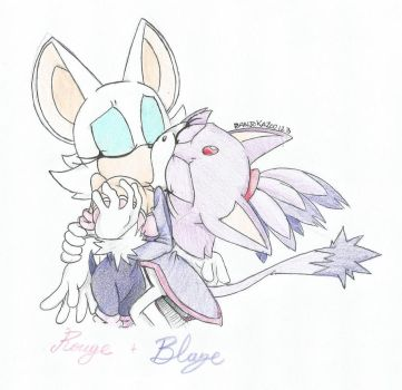 Rouge X Blaze by banjokazoo123