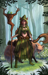 Nila - The Guardian of the Forest by Hector-Monegro