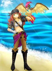 Mary Read and Pidgeotto by RikaChan3