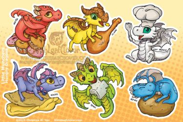Hungry Munchers Sticker Sheet by The-SixthLeafClover