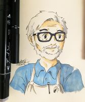 Happy 76th Birthday to Mr. Hayao Miyazaki by Jhincx-Faust