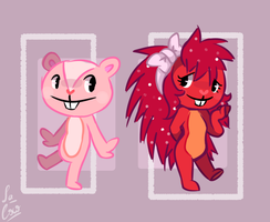 Genderless Giggles and Girly Flaky by La-Cocotua