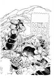 Fantastic Four Cover By Frenz inks Curiel by lobocomics