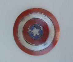 Captain America Distressed Shield Fridge Magnet by Livinlern