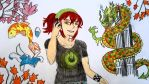 The travel in Japan.- anime and dragon. by Shantifiy