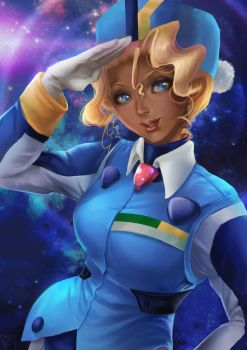 Mihoshi of Galaxy Police by shuu-washuu