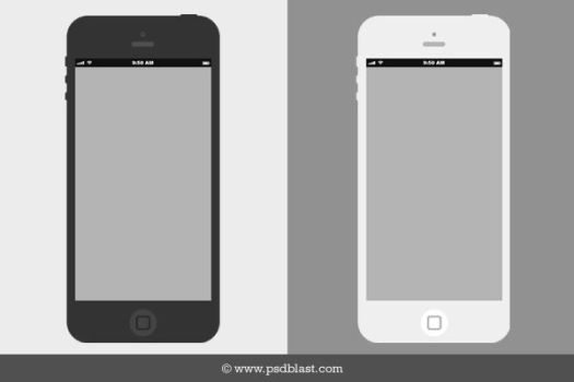 Flat iPhone Wireframe Design Template (PSD) by psdblast