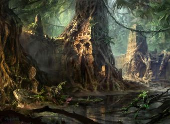 Swamp (Temple) by AdamPaquette