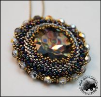 Peacock Pendant by GoodQuillHunting