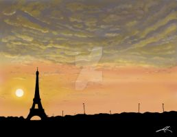 Sunset - Paris by MarvinGabriel