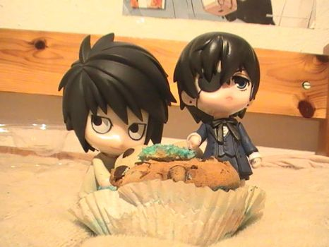 L, Ciel and the Muffin~ by Grellcheen