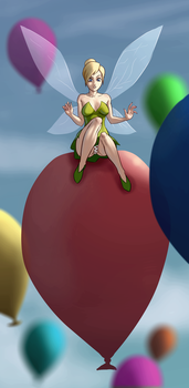 Tinkerbae Riding Balloons (Contest Entry) by NGMI