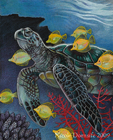 Green Sea Turtle by thornwolf