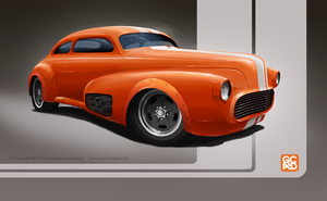 1948 Chevy Fleetline Aero as a road racer by GaryCampesi