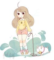 Bee and puppycat by stare507