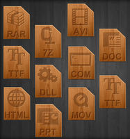 Wood icons for file types by teroleg