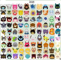Teenage Pokemon Character Icons