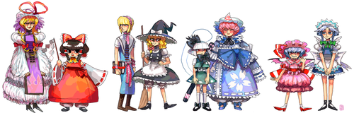 Imperishable Night lineup by emlan