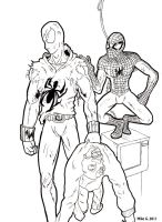 Scarlet Spider and Spiderman by Gx3RComics