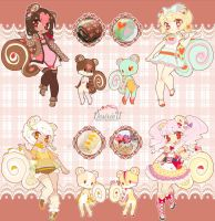[Adopts] Squirroll: Hearts n' Dots batch [CLOSED] by DesireeU