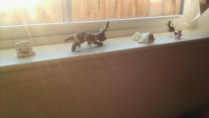 Sunlit Windowsil of Clay Made Pokemon by Darkstarcat612