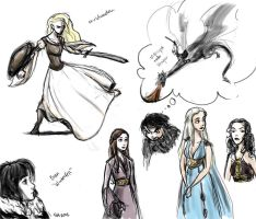thrones doodles by scaragh