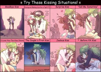 Try These Kissing Situations! by Sin-D-Hellian