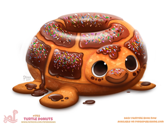 Daily Paint 1755# Turtle Donut by Cryptid-Creations
