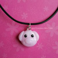 Pig Necklace by LizClaudia