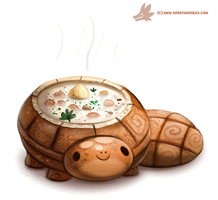 Daily Paint #1067. Bread Bowl Turtle by Cryptid-Creations