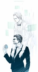 Iron Man-Tony and Jarvis by Athew