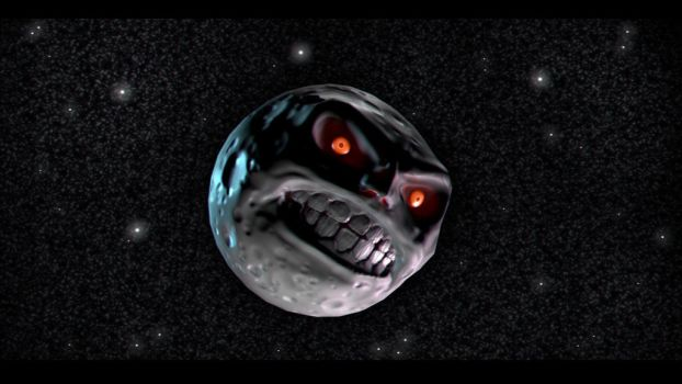 Majora's Mask Moon by Tiwyll