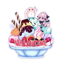 [CM] Valentine - Icecream Mountain by xXYukiNoUsagiXx