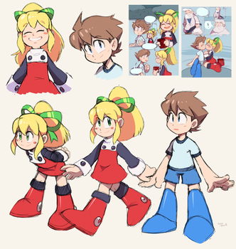 Megaman and Roll Comics: cute little robots! by meteorstom