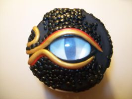 Black Gold and Red Dragon jar lid by ashitx