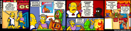 Steamed hams but its a macoatl comic by FlintofMother3