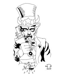 Uncle Demon Sam TShirt Design by wicked-hatter