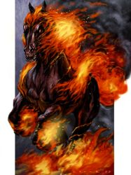 Horse on Fire by StephenCrowe