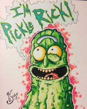 Pickle Rick!!! by Matt-Lejeune-Art