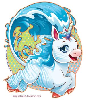 Water Unicorn by KelleeArt