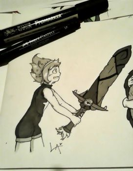 Inktober #6 - Sword by Laxianne
