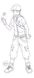 PKM Male trainer_linework by Kitsu-DR