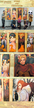 GAME OF THRONES: ART NOUVEAU by AkiiRaii