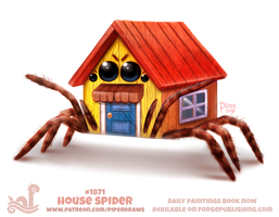 Daily Paint 1871# House Spider by Cryptid-Creations