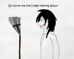 Jeff Meets the Rake by AllieTheCat