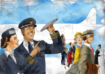 The Pilot and The Stewardess by altifirmansyah
